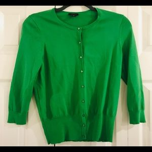 NWOT Ann Taylor Kelly Green Super Soft Cardigan; S